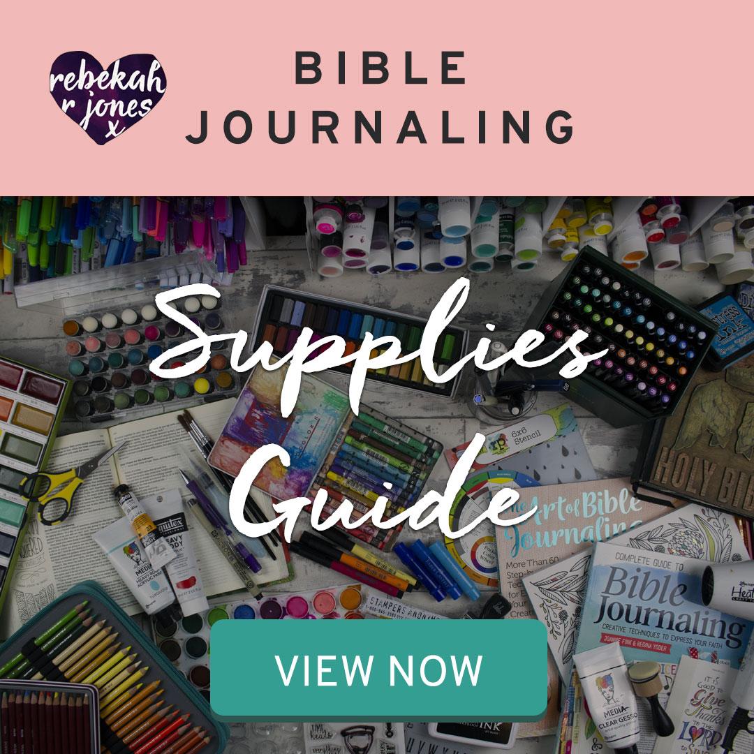 Bible Journaling Supplies Guide