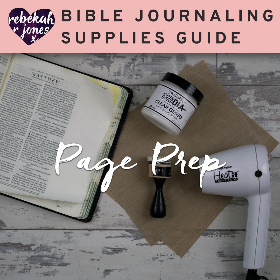 Bible Journaling Page Prep
