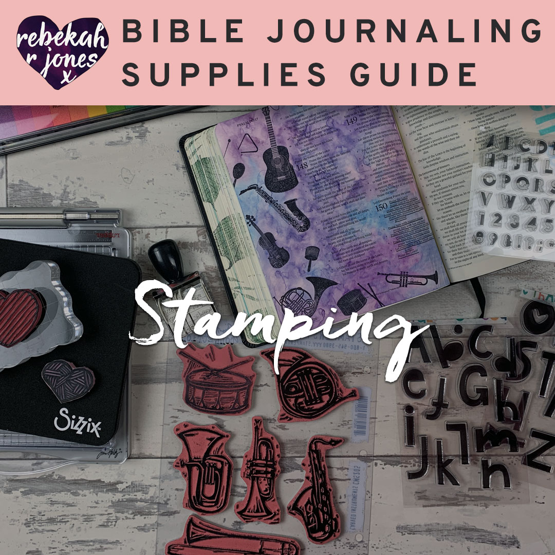 Stamps and Stamping for Bible Journaling