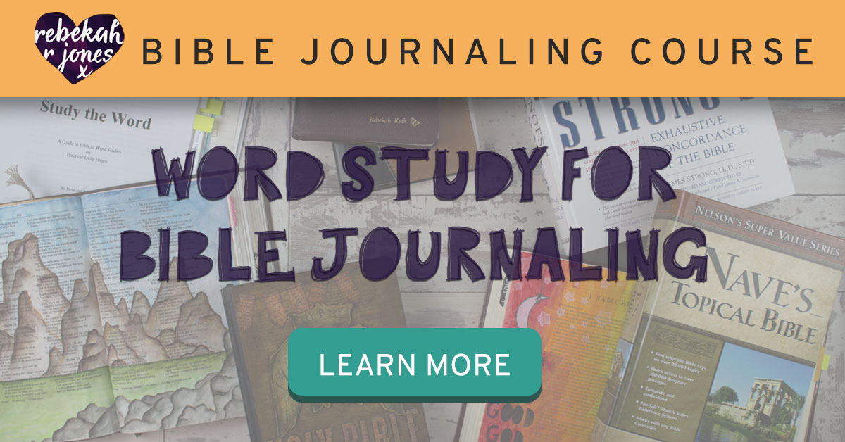 Word Study For Bible Journaling Course